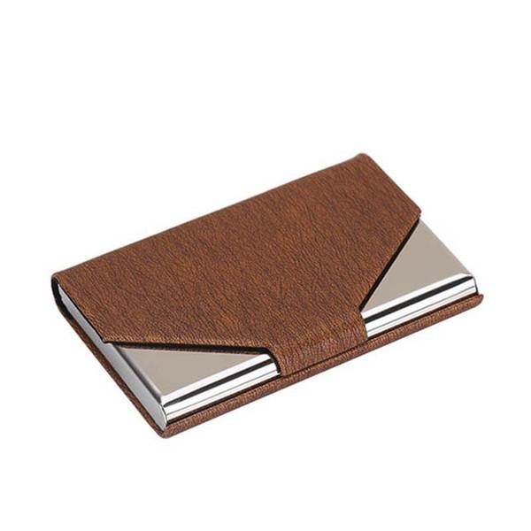 Antitheft Men Business affairs Credit Card Holder Blocking Rfid Wallet Leather Unisex Security Information Aluminum Metal Purse 7 Colors