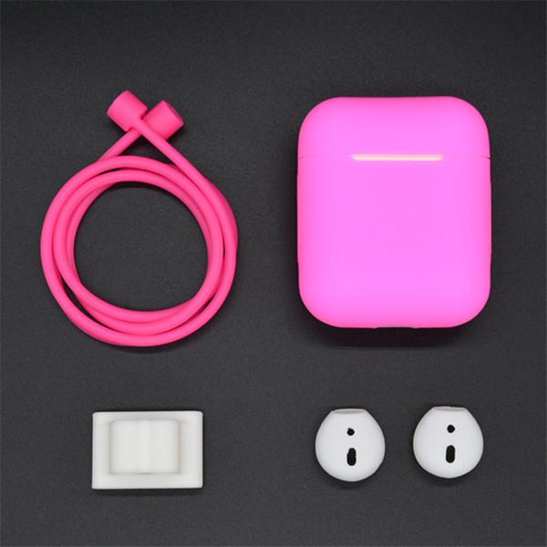 4 en 1 Accesorios para Estuche Caso AirPods cubierta AirPod lujo polvo de la Guardia de silicona vainas de aire de la caja de AirPods 2 de Apple Caso lindo