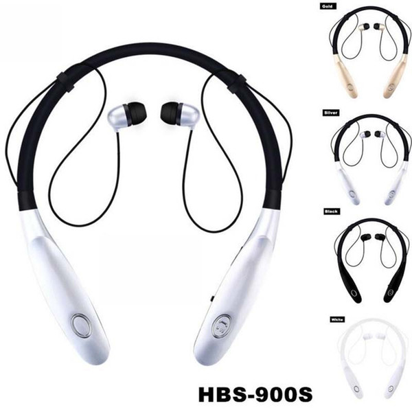 top popular Universal Neckband Sport Bluetooth Earphone HBS 900s Headphones Wireless Earbuds Hand Free Headset With Mic last 15hours V4.0 For Phone 2021