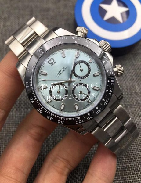 4 Colors Men's Mechanical 2813 Movement Ice blue Dial Watch Mens Cosmograph Watches Men 116500 Ceramic Bezel 116506 Full Steel Wristwatches