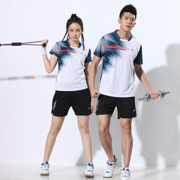 Ropa de equipo de entrenamiento de partidos de tenis para hombres y mujeres de Adsmoney, camisa de tenis para niña grande, faldas de poliéster de bádminton