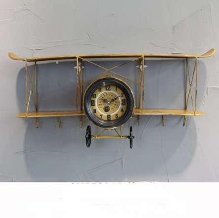 M.Sparkling Relógio de Parede Saat Relogio de parede Criativo Retro Modelo de Aeronave Relógio Duvar saati sala de estar restaurante relógios de parede