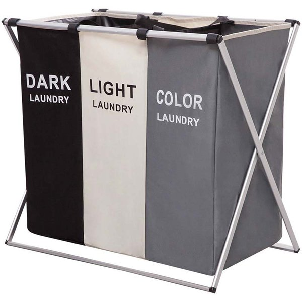 best selling Dirty Clothes Laundry Storage Basket 2 3 Grid Foldable Oxford Cloth Organizer Basket Home High Capacity Laundry Bags Bathroom Laundry Hamper