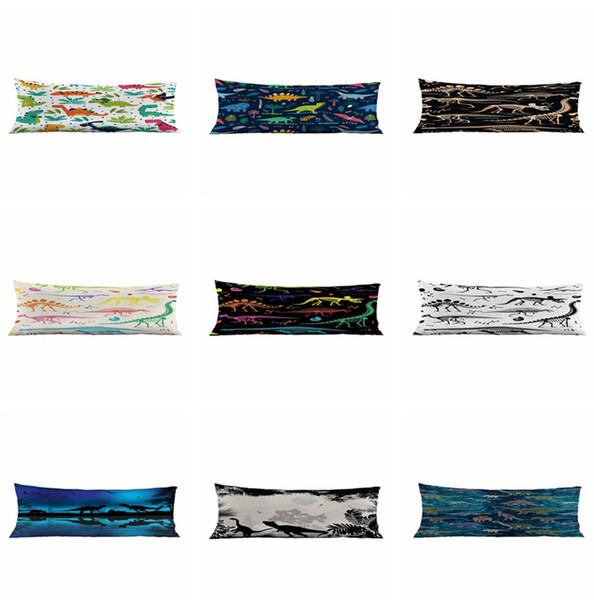 3D Cartoon Dinosaur Bolster Pillow Case Cover Long Body Support Pillowcas High Quality Pillow Cover Factory Price