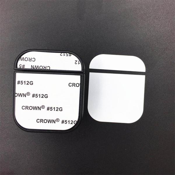 Leere Hülle für AirPods 5 Farben für den 2D-Sublimationsdruck mit Aluminiumblech DIY Personalisiertes Design für iPhone 7 8 X verfügbar