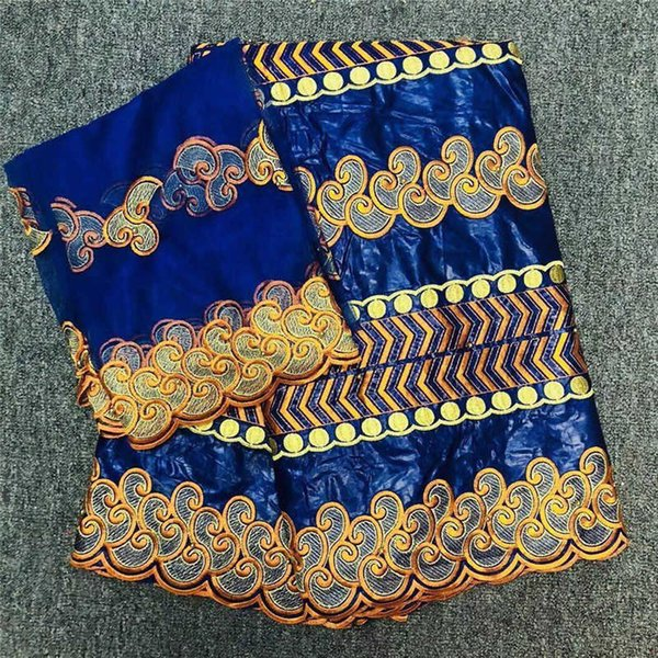 bazin riche getzner royal blue bazin brode getzner 2019 latest african lace fabric for wedding jacquard Guinea Brocade fabric -J