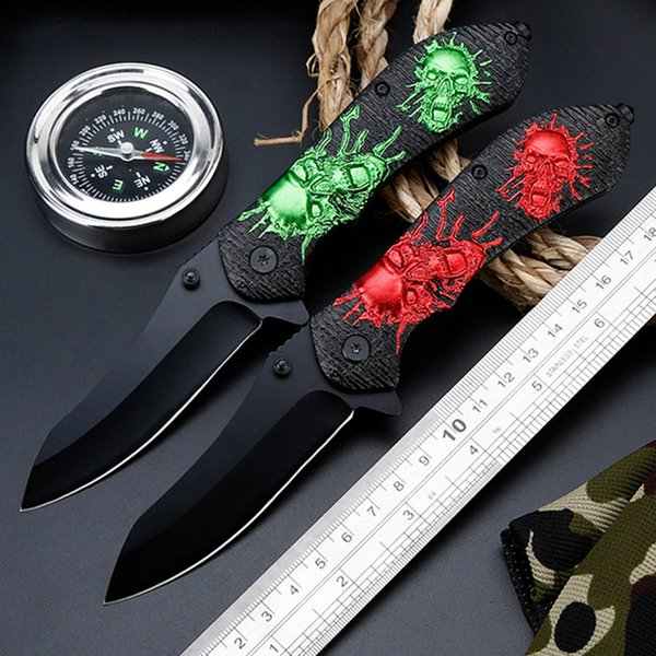 Tactical high hardness folding knife Wild survival multi-function knife self-defense outdoor cutter