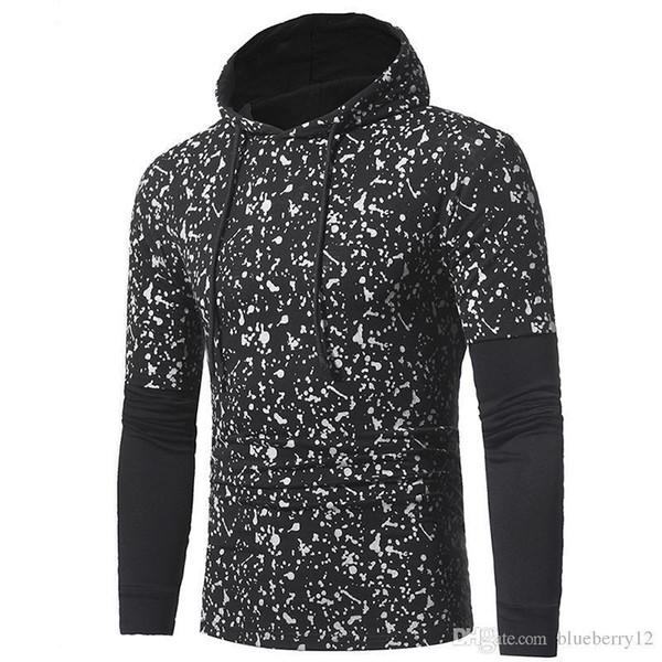 Nice Spring Mens Pop Sweatshirt 2 Colori Ink Dots Maglietta con cappuccio manica lunga con cappuccio e maniche lunghe Shippig
