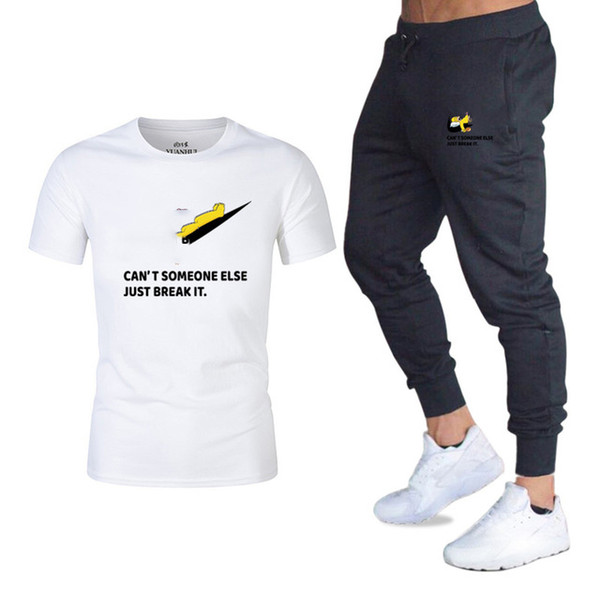 Sport Suits Jogger pants+T Shirts Men Sports Joggers Training Suit Brand Designer Men Tracksuits Gym Fitness Tracksuits Set streetwear