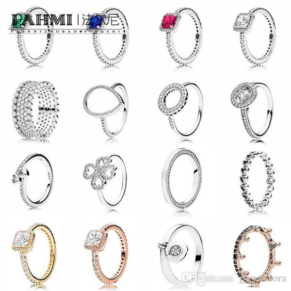 FAHMI Topaz Engagement Ehering Set 925 Sterling Silber Ringe Für Frauen Band Eheringe Versprechen Ringe Brautschmuck