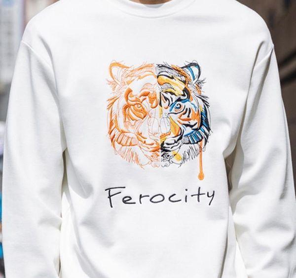 19ss Embroidery tiger head designer sweater man woman high quality long sleeve O-neck pullover Women s Hoodies Sweatshirts fashion KZ
