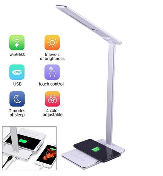 Cargador Habilitado Para Mesita De Qi 4 QiLámpara Inalámbrico Dispositivo De Noche Regulable De Para Y LED Compre Lámpara Escritorio Plegable Con LMGSUzpqV
