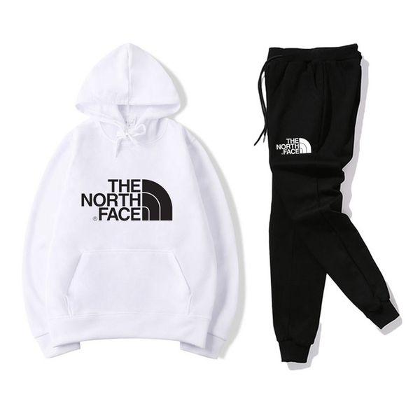 Vetements pour hommes Designer North Sweatshirt Pants Survêtements Noir Blanc Rouge Jaune Mode Hommes Casual Vêtements Sports