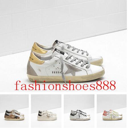 Venda quente Branco Dourado Rosa Superstar Sapatos de Grife Sapatilhas De Couro GB Low Top Homens Sapatos Casuais Sapatos Flats Tênis Tamanho 35-45