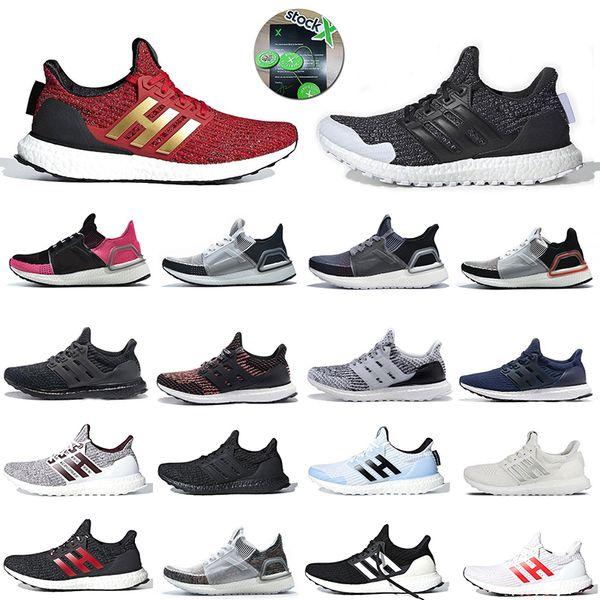 Stok X Ultra Boost 4.0 5.0 Koşu Ayakkabısı Ultraboost 19 Oreo Lannister Stark Beyaz Yürüyüşe Erkek Eğitmenler 4s 5s Kadın Spor Ayakkabıları Sneakers