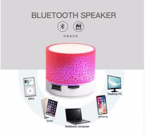 newest A9 Bluetooth Speaker Mini Wireless Loudspeaker Crack LED TF USB Subwoofer bluetooth Speakers mp3 stereo audio music player