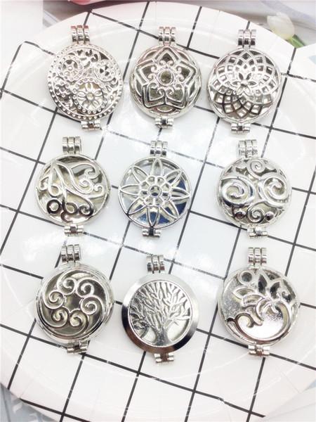 Openable pendant alloy box butterfly magic box pendant can put photo cotton piece perfume necklace pendant accessories