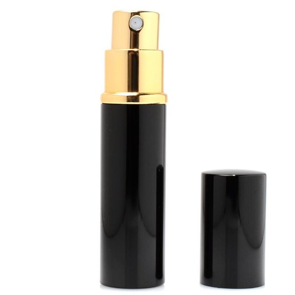 5ML Perfume Spray Bottles Mini Portable Refillable Perfume Atomizer Black&Gold Color Scent-bottle Fashion Cosmetic Containers For Travel