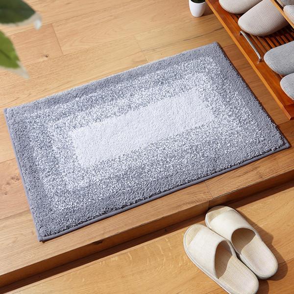 Gradient Plush Anti-slip Carpet Floor Mat Rug Absorbent Entry Door Mat Washable Nonslip Indoor Front Entrance Rug