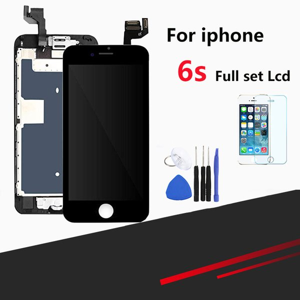 Full Set Screen for iPhone 6s LCD Screen Touch Screen Digitizer Assembly Full Replacement Module with Home Button and Camera