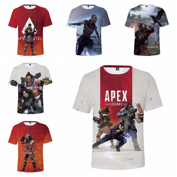 Boys Apex Legends T-shirts 24 Estilos Niños Chica Diseñador Verano Camiseta Niños Moda Casual Top Tees