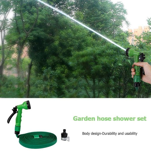 10M/15M/20M High Pressure Car Washer Garden Sprinkler Irrigation Hose Expandable Magic Flexible Water Hoses Set Car Washing Kit