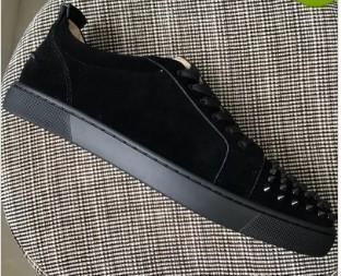Новые мужские женский Gloden шипы схождение с змеиной кожей с красной подошвой низки кроссовок, дизайнер брендом натуральной кожей плоских причинной обувь 18604