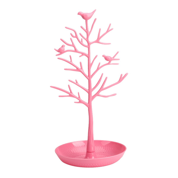 1Pc Birds Tree Design Jewelry Stand Durable Chic Fashion Storage Organizer Tower Stand for Necklace Jewelry Earring