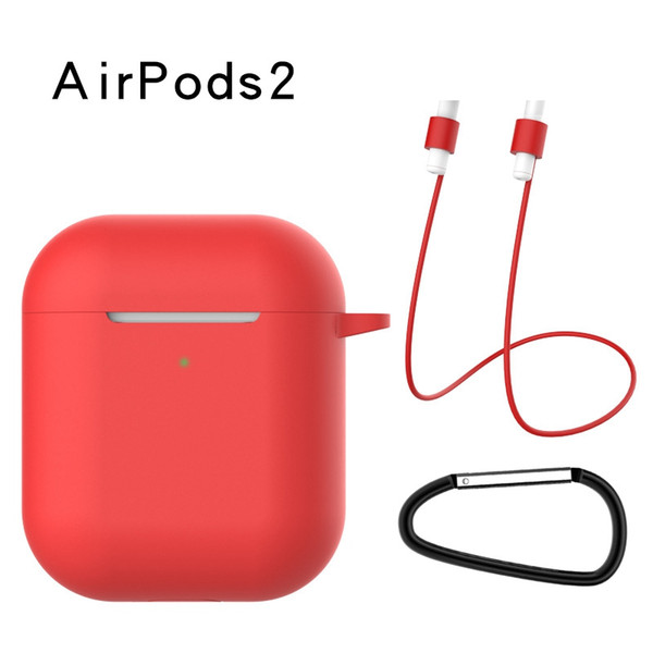 3 1 Silikon Kılıf Apple Airpods Için 2 Kapak Airpods2 Darbeye Dayanıklı Çanta Için Koruyucu Kulaklık Kılıfları