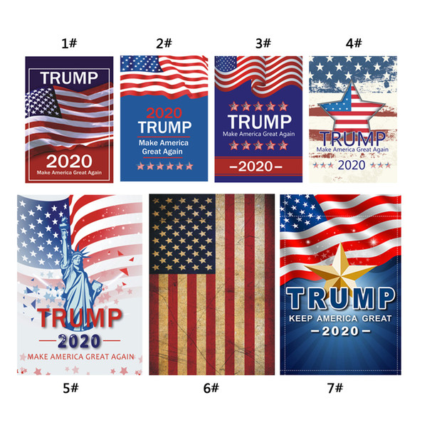 top popular 2020 Donald Trump Amercia Flag for President Make America Great Again Garden Flag 30*45cm Personality Decoration Banner Flags DBC VT0393 2019
