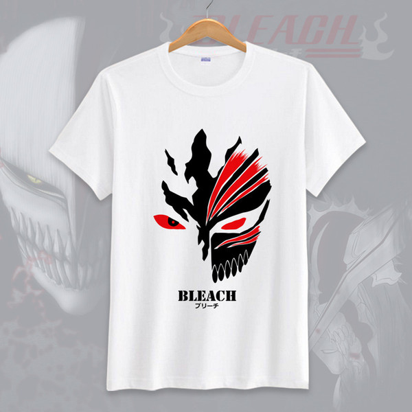 Anime BLEACH Unisex Tops Camiseta Camiseta Cosplay Ishida Uryuu de dibujos animados camiseta camisetas Kurosaki Ichigo Summer Tees
