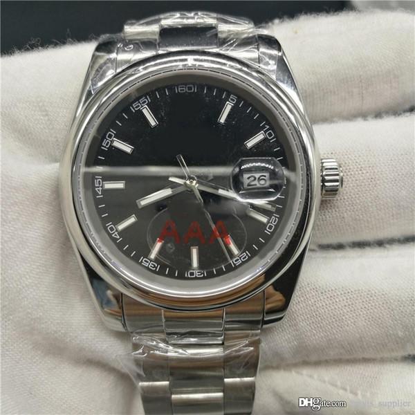 Homens de marca de luxo 36mm relógio mecânico automático Sem movimento arrebatador da bateria Relógio de aço inoxidável AAA Date modelo relógios 534.
