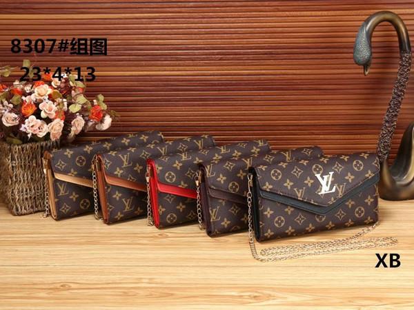 2019 Best selling value women high-end chain shoulder bag leather Messenger bag trend handbag cosmetic bag wallet free shipping
