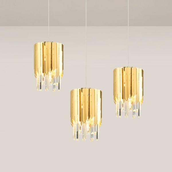 Современная хрустальная люстра для столовой одноместный свет полированная сталь подвесные светильники LED Cristal Lustre 90-265V