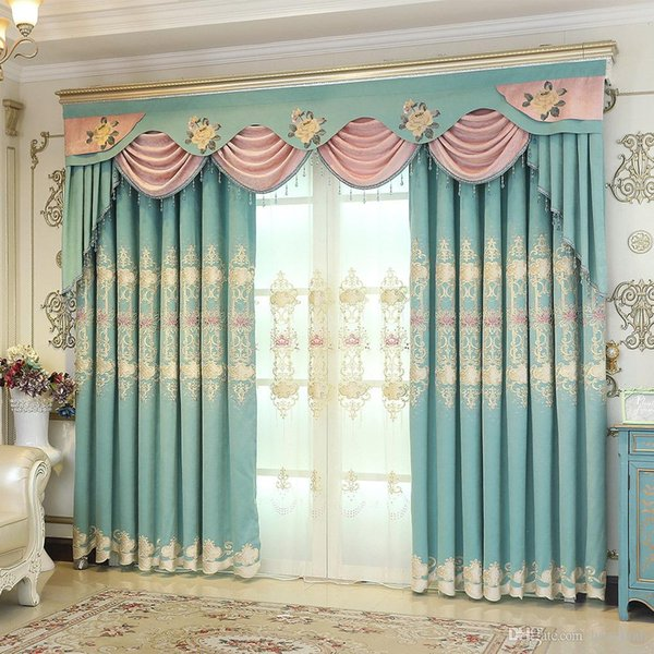 2019 Curtain Fabric European Embroidered Nordic Blackout Curtains Living  Room Bedroom Curtain Finished From Samul, $23.32 | DHgate.Com