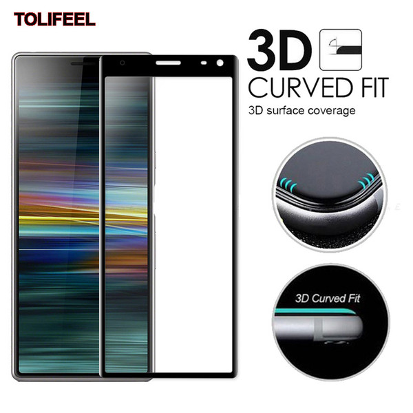 3D Curvy Full Cover Tempered Glass For Sony Xperia 10 XA2 Plus 1 XZ4 XZ2 XA3 Ultra Screen Protector 9H Protective Film