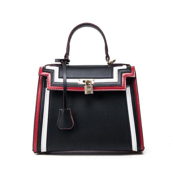 Pop Fashion Shoulder Bags Women Handbag Pu Leather Lady Crossbody Striped Fashion Business Trumpet Female Bag High Quality Messenger Bags