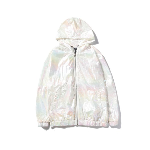 Designer Frauen Windcoat Sonnencreme Mantel Luxus 2019 New Super Bunte Reflektierende LOGO Windbreaker Coat Markengröße von M bis 2XL erhältlich