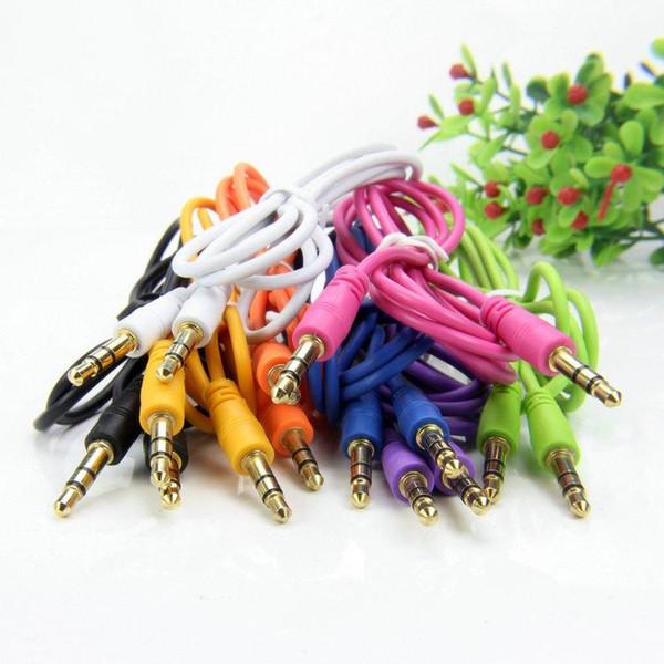 AUX-Kabel AUX-3,5-mm-Stecker auf Stecker Audio-Kabel Stereo-Auto-Verlängerungskabel für Digital Device1M 100St