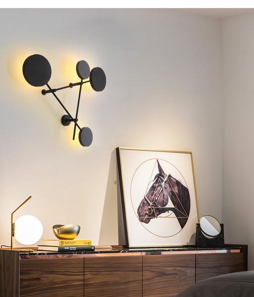 Nordic living room wall light modern minimalist creative personality round warm bedroom wall lamp