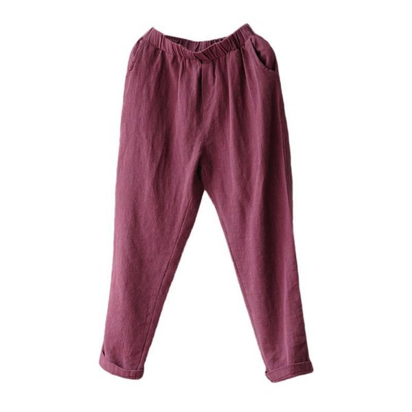 women cotton and linen pants summer and autumn new loose casual pants women long pants fashion harem pant