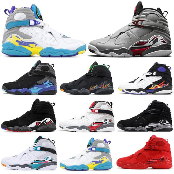new concept b7c4d 5e4f4 Reflective Bugs Bunny 8 8s Men Basketball Shoes Valentines Day Aqua White  Black Chrome 3PEAT PLAYOFF Mens Trainer Sports Sneaker 7 13 Barkley Shoes  ...