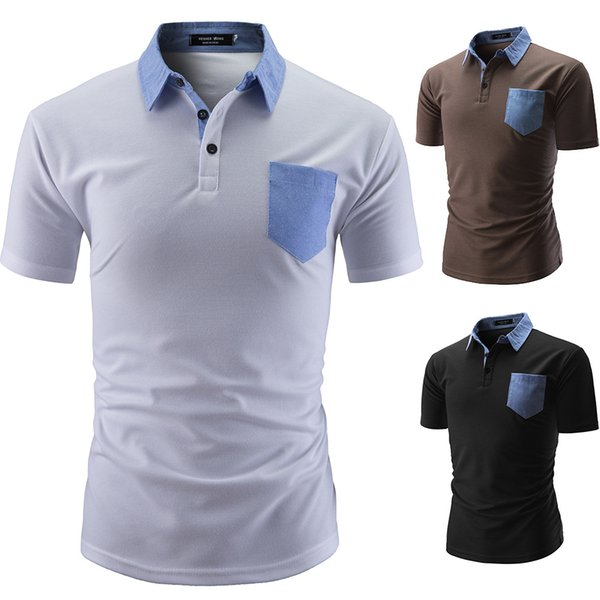 Мужские Классические рубашки поло футболки горячее лето рубашка Сыпучие тройники Mens Slim с коротким рукавом вышивка Polos тройники высокого качества M-2XL