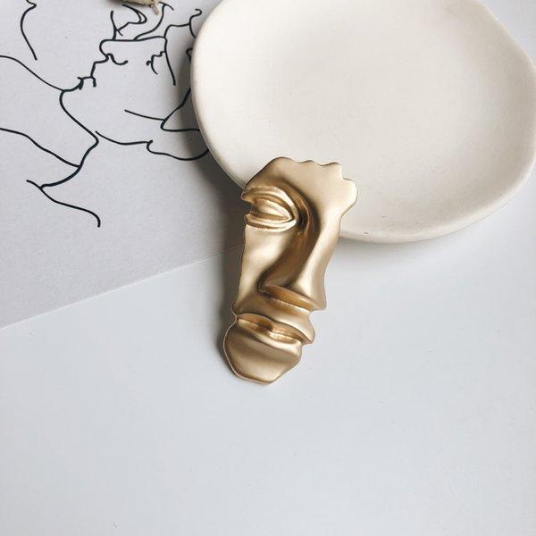 2019 nuova spilla arte astratta selvaggia mezzo spilla di design di lusso spille spilla gioielli spilla d'oro placcato
