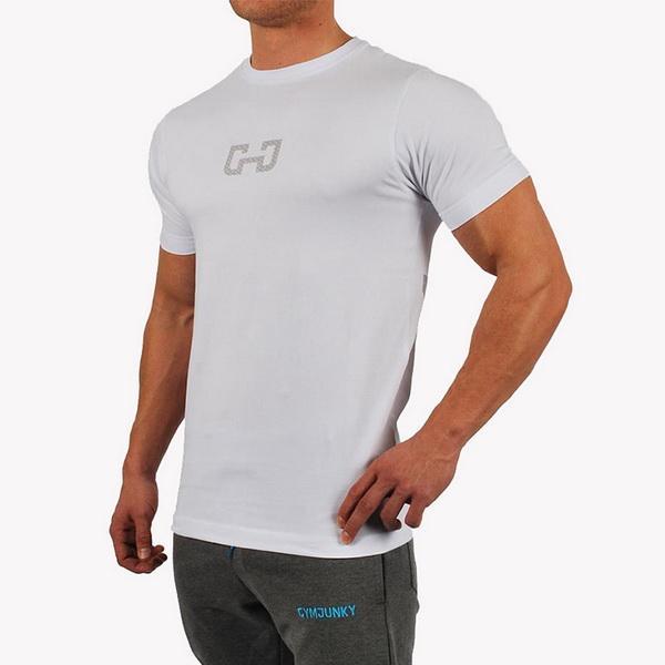 Compre Hombres Corriendo Deporte Camiseta De Algodón Gimnasio Fitness Entrenamiento Entrenamiento Camisetas De Manga Corta Hombre Jogging Culturismo