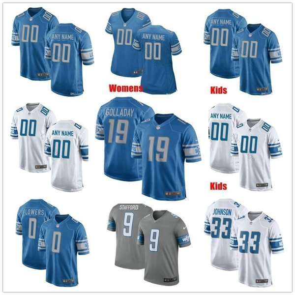 cheap for discount 3fc07 9fa5e 2019 Custom Detroit 38 T.J. Hockenson 19 Kenny Golladay Jahlani Tavai Will  Harris Kerryon Johnson Men Women Kids Youth Lions Stitched Jersey From ...