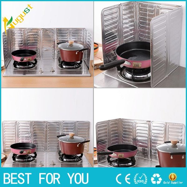 New Hot 2018 Kitchen Accessories Cooking Frying Pan Oil Splash Screen Cover Anti Splatter Shield Guard Oil Divider Best Price