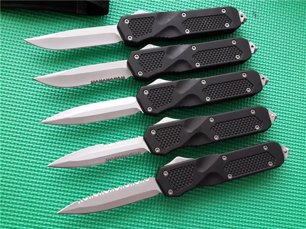 best selling Large KT08 D A out the front Automatic Knives 440C steel EDC tactical Pocket knife camping gear knifes with sheath
