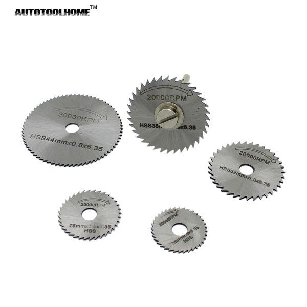 saw cutting disc AUTOTOOLHOME 6pc HSS Mini Circular Saw blades Set Wood Aluminum Cutting Disc for Dremel Rotary Tools Accessories Multi Tool