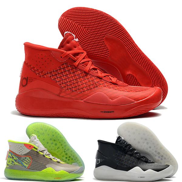 kevin durant kd 12 En Kaliteli Zoom KD 12 XII erkek basketbol ayakkabı MVP Elite Yıldönümü Üniversitesi Kırmızı Siyah Yeşil Mavi tasarımcı eğitmenler mens ayakkabı